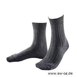 Socke, BW, kurz, grau, neu